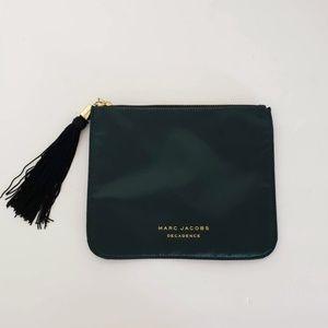 Marc Jacobs Decadence Makeup Bag Satin Green 8.5x7